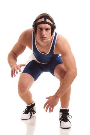 folkstyle: Wrestler Stock Photo