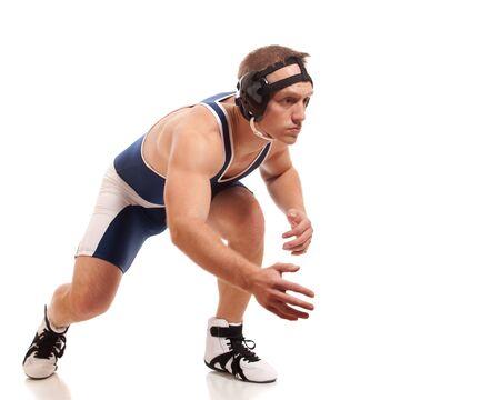 staggered: Wrestler Stock Photo