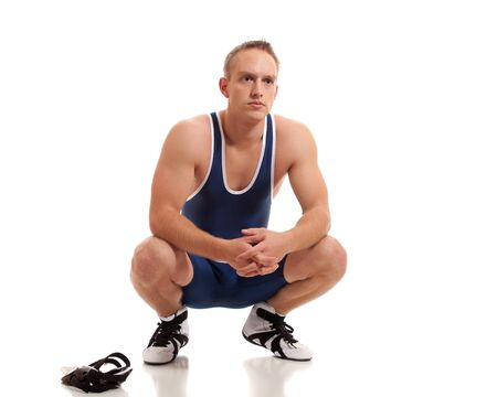 folkstyle: Wrestler Stock Photo