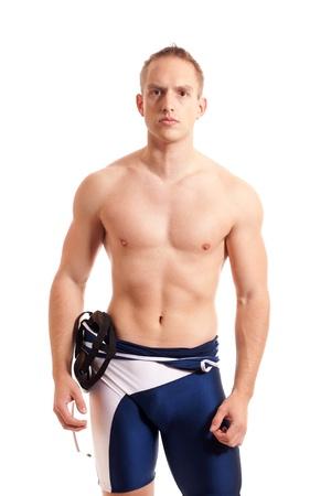 singlet: Wrestler Stock Photo