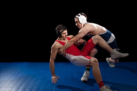 beginner: Wrestling Stock Photo
