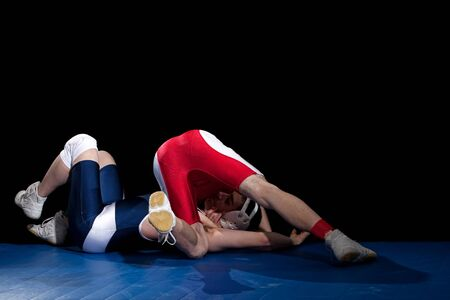 folkstyle: Wrestling Stock Photo