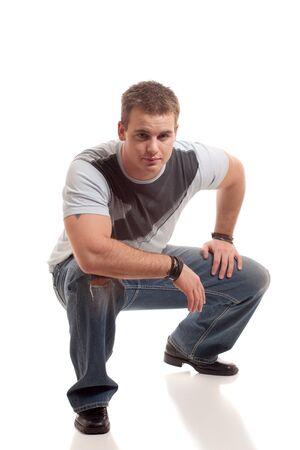 Casual Man on White photo