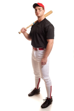 baseball bat: Baseball Player
