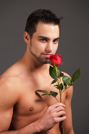 Man with Rose Stock Photo - 8829182