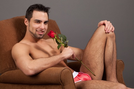 Man with Rose photo