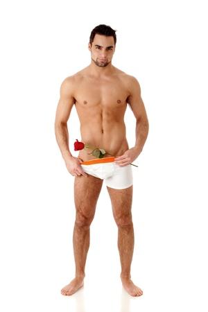 uomo rosso: Uomo con Rose