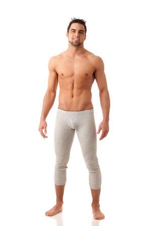 pijama: Hombre en ropa interior larga