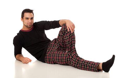 pajamas: Man in Pajamas Stock Photo