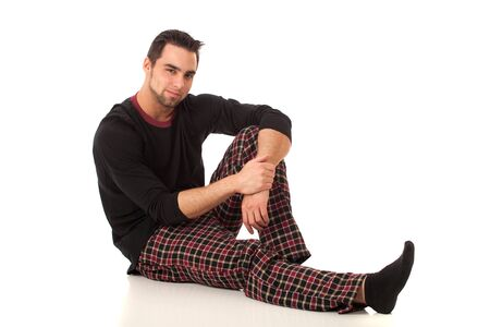 bottoms: Man in Pajamas Stock Photo