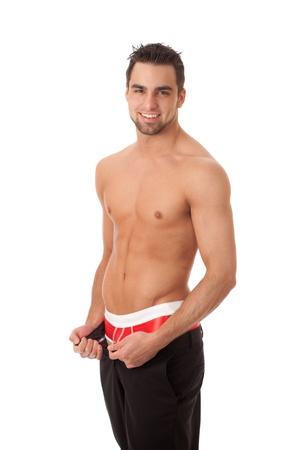 unzipped: Unzipped Pants Stock Photo