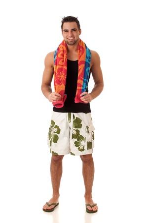 traje de bano: Hombre en trajes de ba�o