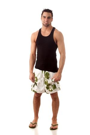 boardshorts: Man in Swimwear Stock Photo