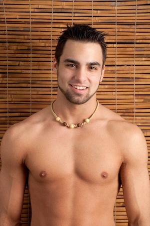 shirtless: Shirtless Man Stock Photo
