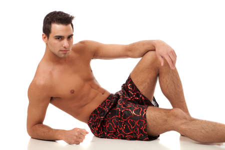 Man in Heart Boxers photo