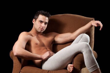 long johns: Man in Chair