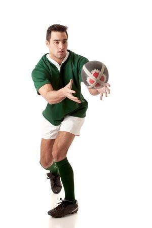 by passes: Jugador de rugby. Foto de archivo