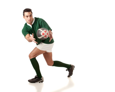 pelota rugby: Jugador de rugby. Foto de archivo