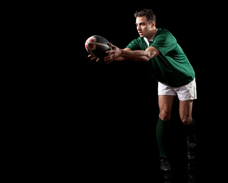 rugby ball: Rugby Player Stock Photo