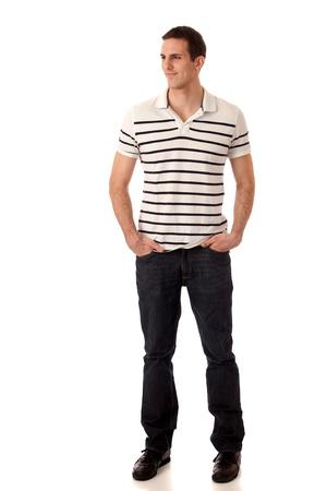 striped shirt: Casual Man