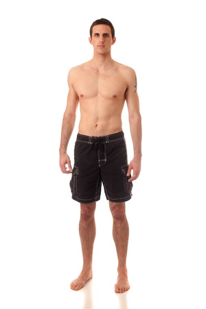 swimsuit: Man in Swimwear Stock Photo