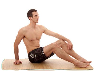 board shorts: Man in Swimwear Stock Photo