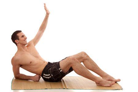 swimming shorts: Man in Swimwear Stock Photo