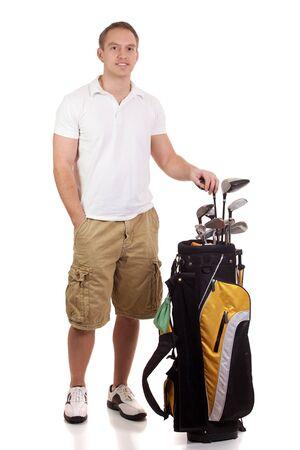 golf bag: Golfer