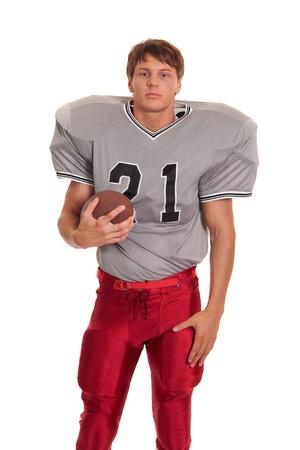 uniforme de futbol: Jugador de f�tbol. Foto de archivo