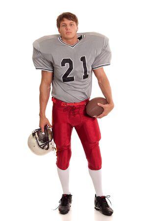 fútbol jugador: Jugador de f�tbol. Foto de archivo