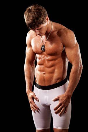 muscular man: Bodybuilder