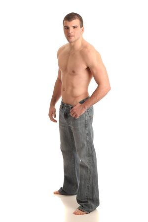 Shirtless Man in Jeans Stock Photo - 9189507