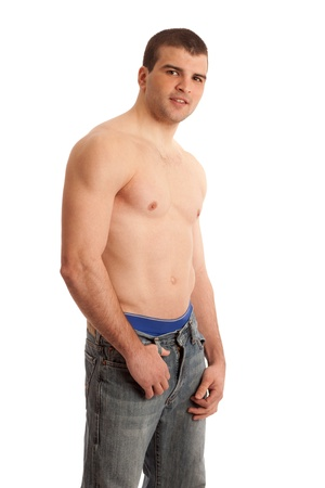 Shirtless Man in Jeans Stock Photo - 9189518