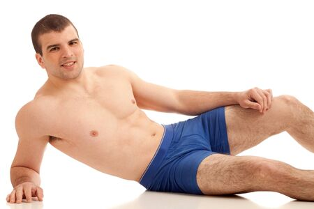 undressed young: Man in Underwear