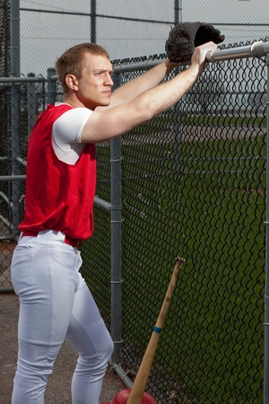 baseball dugout: Baseball Player