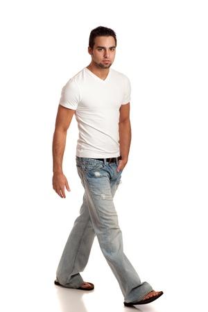 tee shirt: Casual Young Man Stock Photo