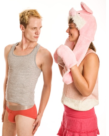 sexy funny: Pink Bunny Couple
