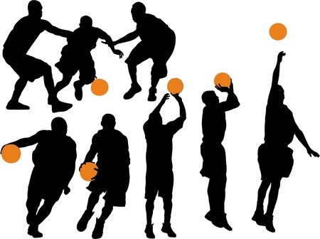 Basketball Vector Silhouettes Vector