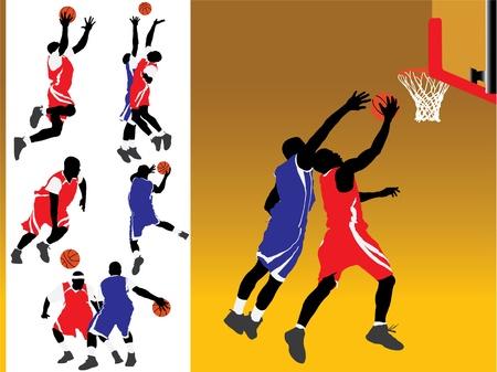 バスケット ボールのベクトル シルエット
