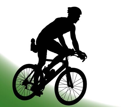 triathlete: Cyclist Vector Silhouette
