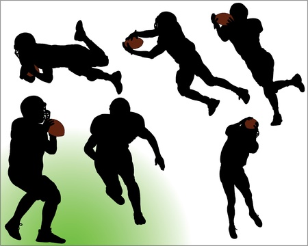 Football Vector Silhouettes Vector