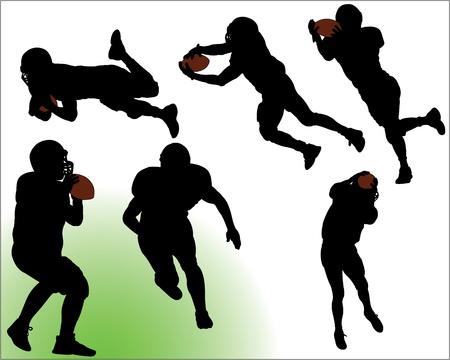 Football Vector Silhouettes