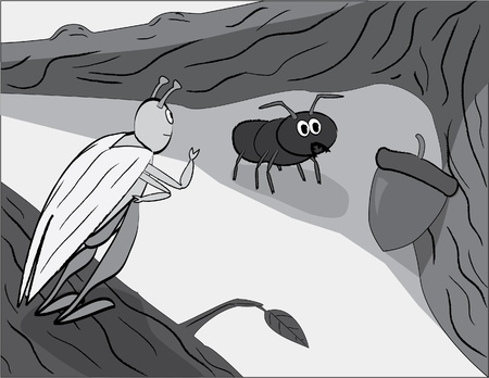 fable: Grasshopper and Ant