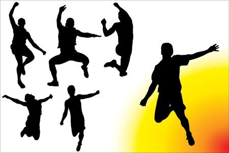 Men Jumping Vector