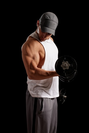 lifting: Man Lifting Weights