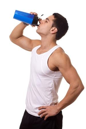 water bottle: Man with Water Bottle