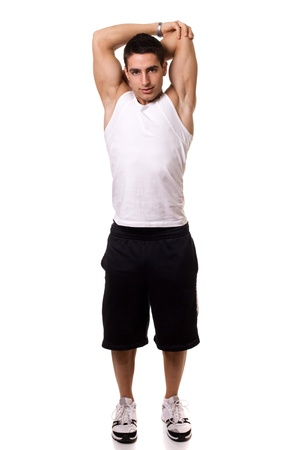 tricep: Tricep Stretch Stock Photo