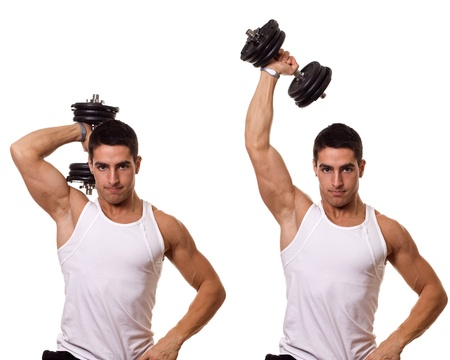 tricep: Tricep Extension Stock Photo