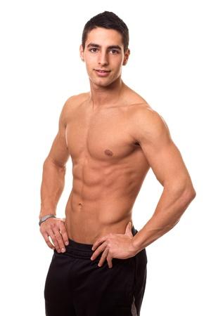 muscular male: Athletic Man Shirtless