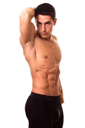 hombres sin camisa: Sin camisa hombre atlético